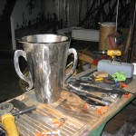 Trophy in process